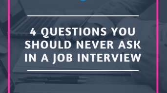 4 Questions you should never ask in a job interview